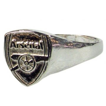Arsenal Silver Plated Crest Ring - Small